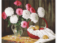 Цветы, натюрморты, букеты Хризантемы