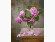 Цветы, натюрморты, букеты Гортензия в вазе