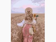 Портреты, люди на картинах по номерам Пшеничное поле