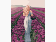 Портреты, люди на картинах по номерам Собирая тюльпаны