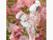 Птицы и бабочки: картины без коробки Белые попугаи