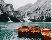 Пейзаж и природа Лодки на озере