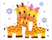 Детские раскраски по цифрам без коробки Жирафы
