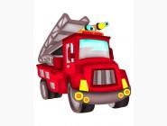 Детские раскраски по цифрам без коробки Пожарная машина
