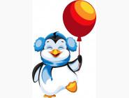 Детские раскраски по цифрам без коробки Пингвинёнок
