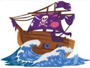 Детские раскраски по цифрам без коробки Пиратский корабль