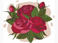 Детские раскраски по цифрам без коробки Букет роз