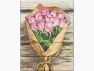 Цветы, натюрморты, букеты Букет розовых роз
