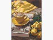 Картины по номерам для кухни Отдых с капучино