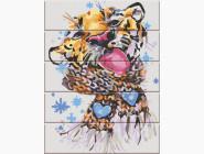 Животные и рыбки Зимний тигр