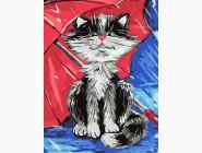 Коты и собаки: картины без коробки Кот под зонтиком
