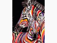 Животные: картины без коробки Пара зебр