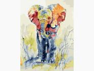 Животные: картины без коробки Слонёнок