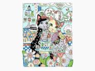 Коты и собаки: картины без коробки Кошачье чаепитие