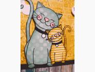 Коты и собаки: картины без коробки Кошка с котенком