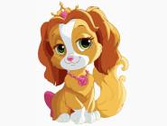 Детские раскраски по цифрам без коробки Королевская собачка