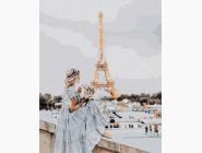 Портреты и знаменитости: раскраски без коробки Девушка в Париже