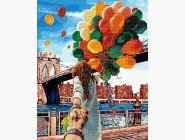 алмазная картина Следуй за мной Бруклинский мост