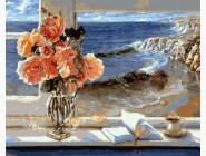 Букеты и натюрморты: картины без коробки Цветы и море