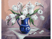 Цветы, натюрморты, букеты Нежный натюрморт с цветами