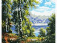 Природа и пейзаж: картины без коробки Тихое озеро
