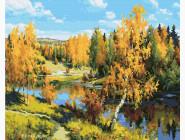 Природа и пейзаж: картины без коробки Осенний лес