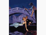 Романтика и влюбленные: картины без коробки Вечер в Венеции