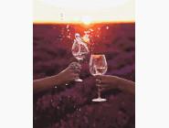 Романтика и влюбленные: картины без коробки Солнце в бокале
