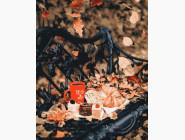 Раскраски для кухни Осеннее чаепитие в парке
