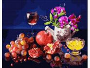 Букеты и натюрморты: картины без коробки Фрукты и вино