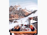 Природа и пейзаж: картины без коробки Завтрак у Швейцарских гор