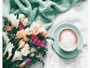 Цветы и кофе