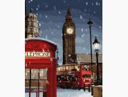 Города мира и Украины: картины без коробки Зима в Лондоне