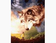 Животные: картины без коробки Гигантский волк