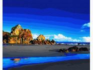Море, морской пейзаж, корабли Прилив у скал