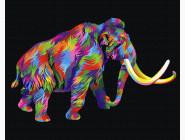 Животные: картины без коробки Радужный мамонт
