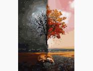 Абстрактные картины без коробки Лиса днём и ночью