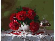 Букеты и натюрморты: картины без коробки Красные пионы