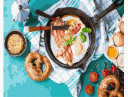Картины по номерам для кухни Вкусный завтрак