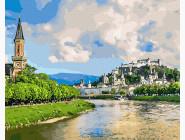 Пейзаж и природа Городок у реки