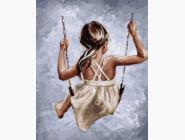 Дети, ангелочки, феи: картины без коробки Счастье на качелях