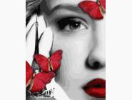 Девушка и бабочки