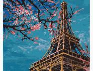 Города мира и Украины: картины без коробки Весна в Париже