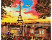 Города мира и Украины: картины без коробки Живописный уголок в Париже