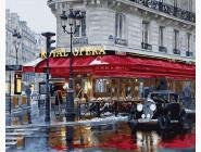 Города мира и Украины: картины без коробки Парижское кафе
