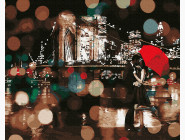 Города мира и Украины: картины без коробки Романтический дождливый вечер