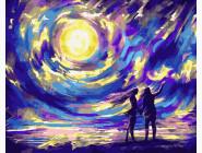Романтика и влюбленные: картины без коробки Звездная ночь для влюбленных
