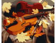 Абстрактные картины без коробки Золотая скрипка