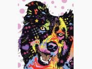 Коты и собаки: картины без коробки Пес в красках
