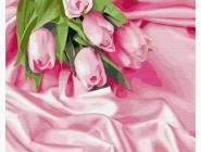 Букеты и натюрморты: картины без коробки Тюльпаны в шелке